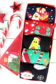 SWEET HOME Christmas gift box with 5 pairs of socks for men | BestSockDrawer.com