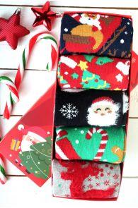 SWEET HOME Christmas gift box with 5 pairs of socks for women   BestSockDrawer.com