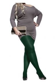 PLUS 60 women's green microfiber tights   BestSockDrawer.com