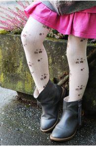 GRETA white tights for kids | BestSockDrawer.com