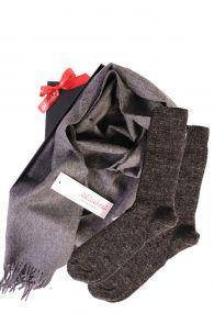 Alpaca wool scarf and socks gift box | BestSockDrawer.com