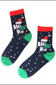 SANTA'S HAT cotton socks | BestSockDrawer.com