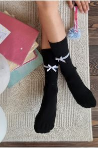 IDA socks with a bow | BestSockDrawer.com