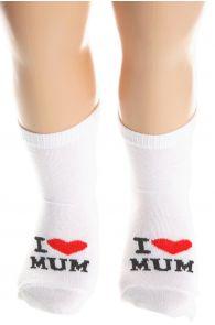 I LOVE MUM cotton socks for babies | BestSockDrawer.com