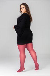 QUEEN PLUS 50DEN dark red tights | BestSockDrawer.com