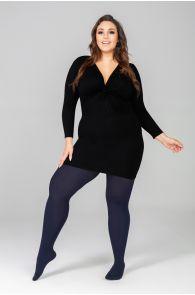 QUEEN PLUS 50DEN dark blue tights | BestSockDrawer.com