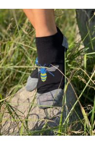 BEE low-cut socks with a blue bee | BestSockDrawer.com