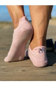 FACE pink low-cut cotton socks | BestSockDrawer.com