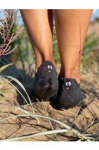 FACE black low cut cotton smiley socks | BestSockDrawer.com