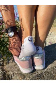 FACE white low-cut cotton socks | BestSockDrawer.com