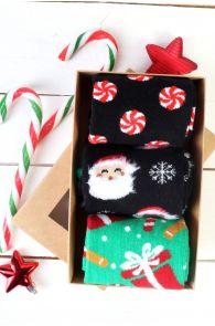FREDERIK Christmas gift box containing 3 pairs of socks | BestSockDrawer.com