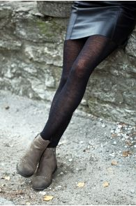 MILANA black merino tights | BestSockDrawer.com