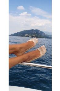 ISTANBUL beige footies for women   BestSockDrawer.com