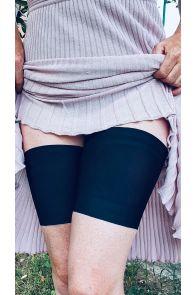 PLAIN black anti-chafing thigh bands | BestSockDrawer.com