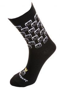 INFLUENCER black cotton socks for women   BestSockDrawer.com