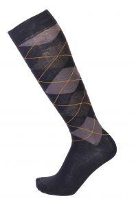 JANEK dark blue cotton knee-highs for men | BestSockDrawer.com