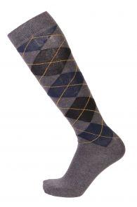 JANEK grey cotton knee-highs for men | BestSockDrawer.com