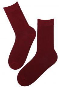 JANNE bordeaux viscose socks for women   BestSockDrawer.com