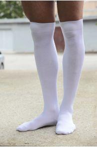 JESSI white over the knee highs | BestSockDrawer.com