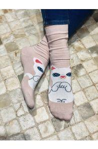 KITTY pink cotton socks for cat lovers   BestSockDrawer.com