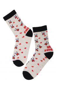 FRIENDSHIP grey cotton socks for kids | BestSockDrawer.com