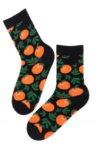 LAVITA cotton socks with clementines | BestSockDrawer.com