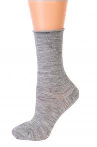 MADLI grey wool comfort socks   BestSockDrawer.com