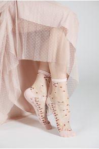 MARIAN light pink sheer socks   BestSockDrawer.com