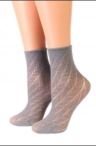 Oroblu METAL grey sparkling socks | BestSockDrawer.com