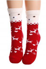 MERRY red cotton socks for children   BestSockDrawer.com