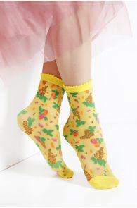 MICOL sheer yellow socks for women | BestSockDrawer.com