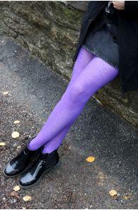 MILANA purple merino tights | BestSockDrawer.com