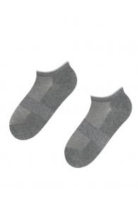 MILDE grey low-cut shining socks | BestSockDrawer.com