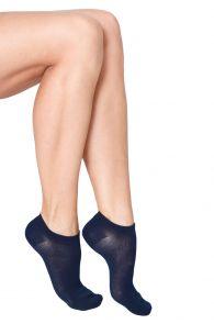 MONDI women's low-cut viscose socks, dark blue colour | BestSockDrawer.com
