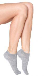 MONDI women's low-cut viscose socks, grey colour | BestSockDrawer.com