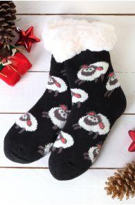 NIILO cute black anti-slip home socks for kids | BestSockDrawer.com