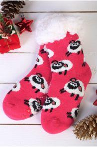 NIILO cute pink anti-slip home socks for kids   BestSockDrawer.com