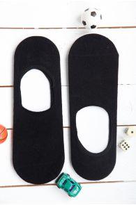 NORMAN men's black no show socks | BestSockDrawer.com