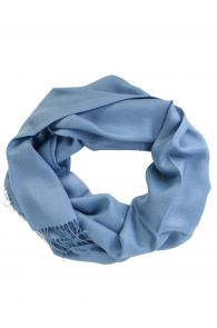 Alpaca wool and silk sea blue shawl | BestSockDrawer.com