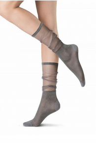 Oroblu SHINE grey knee highs | BestSockDrawer.com