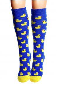 PARDIRALLI blue cotton knee highs for children | BestSockDrawer.com