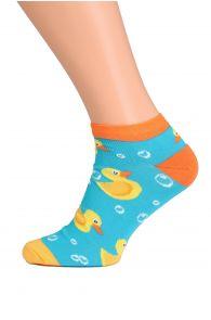 PARDIRALLI blue and orange low-cut cotton socks | BestSockDrawer.com