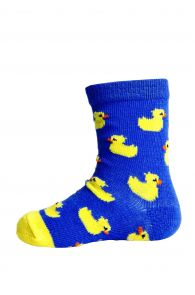 PARDIRALLI blue baby socks with anti-slip soles | BestSockDrawer.com