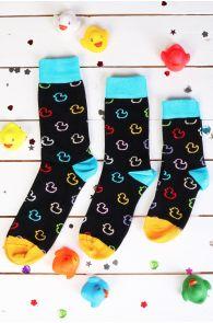 PARDIRALLI family gift box containing 3 pairs of black duck race socks | BestSockDrawer.com