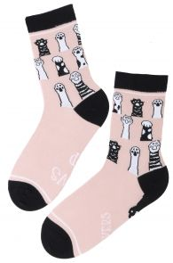 PAWS UP pink cotton socks for women   BestSockDrawer.com
