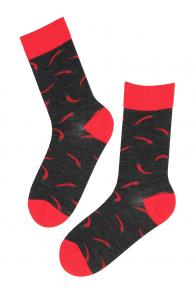 PEPPER merino wool socks with chillies | BestSockDrawer.com