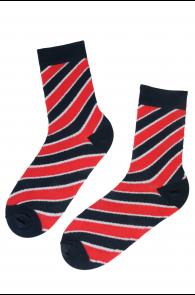 KEVIN striped cotton socks | BestSockDrawer.com