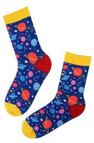 PLANET blue cotton socks | BestSockDrawer.com