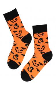 PUMPKIN FACE halloween socks with pumpkins | BestSockDrawer.com