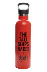THE TALL SHIPS RACES 2021 red water bottle | BestSockDrawer.com